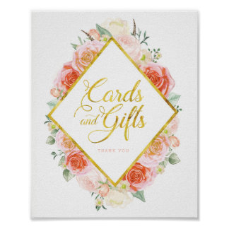 Cards and Gifts Sign (8x10)