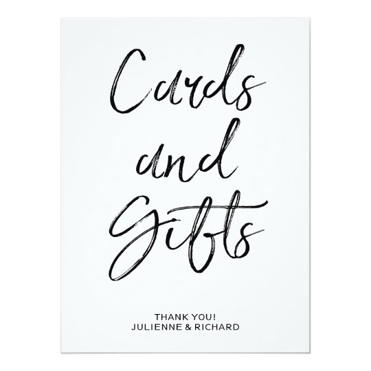 Cards and Gifts Sign | Stylish Hand Lettered