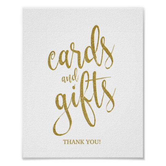 Cards and GiftsGold Glitter 8x10 Wedding Sign