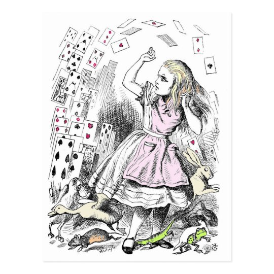Cards attacking Alice