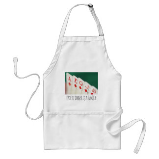 CARDS CARDS CARDS GAMBLE STANDARD APRON