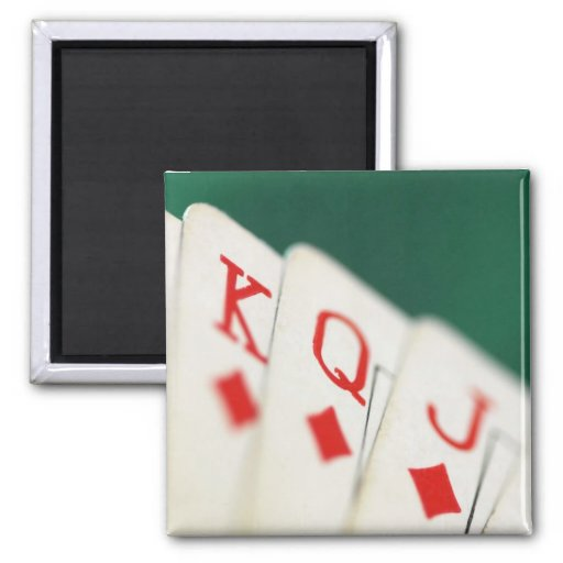 CARDS CARDS CARDS GAMBLE REFRIGERATOR MAGNET