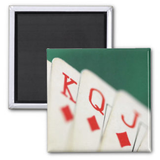 CARDS CARDS CARDS GAMBLE SQUARE MAGNET