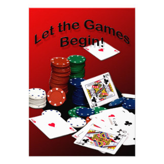 Cards - Let the games Begin Invitations Invitations