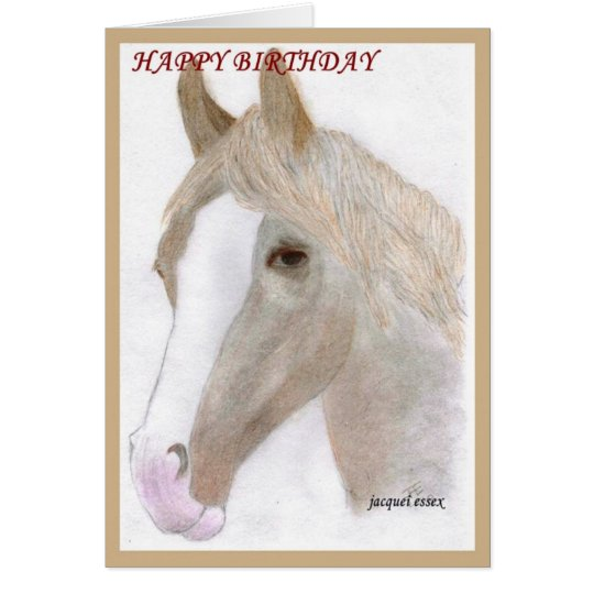 CARDS & NOTELETS - Horse Portrait Birthday Card