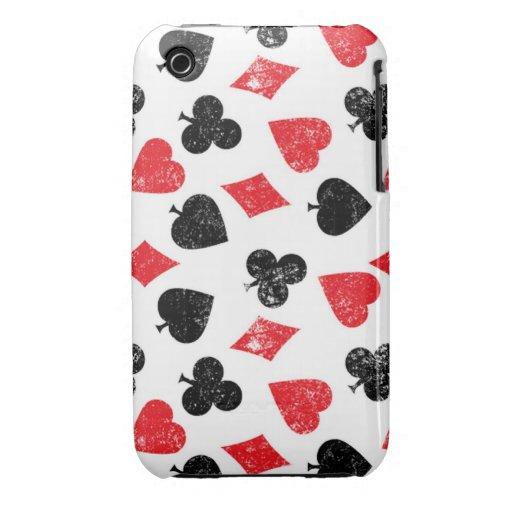 Cards poker House of card club spade heart diamond iPhone 3 Cover
