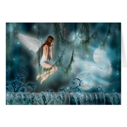 Cards template - customisable faery in space