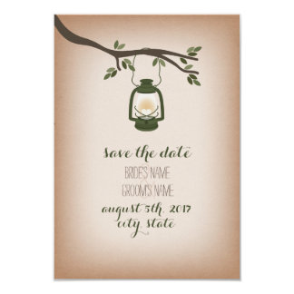 Cardstock Inspired Camping Lantern Save The Date 9 Cm X 13 Cm Invitation Card