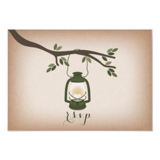 Cardstock Inspired Green Camping Lantern RSVP 9 Cm X 13 Cm Invitation Card