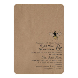 Cardstock Inspired Honey Bee Wedding Card