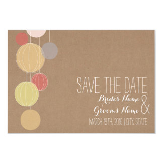 Cardstock Inspired Lanterns Wedding Save The Date 9 Cm X 13 Cm Invitation Card