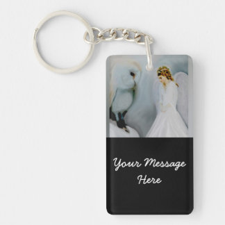 Care Guardian Angel and White Owl Key Ring