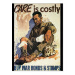 Care Is Costly World War 2 Postcard