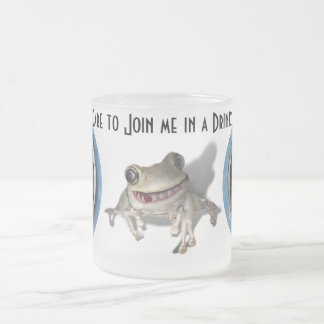 Care to join me in a Drink? Frosted Glass Mug