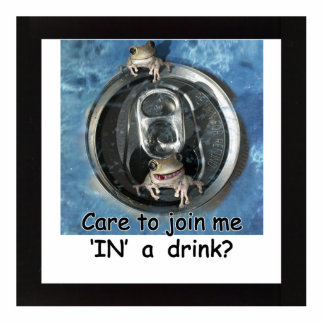 Care to join me IN a drink? Standing Photo Sculpture