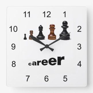 Career Path Square Wall Clock