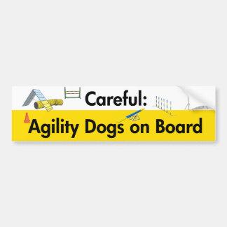 Careful: Agility Dogs on Board Bumper Sticker