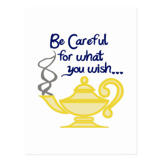 CAREFUL WHAT YOU WISH POSTCARD