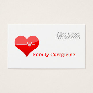Caregiver Caregiving Nurse Nursing Health Care Business Card
