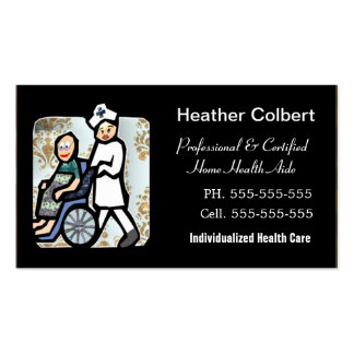Caregiver Cute Professional Business Card Templates