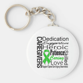 Caregivers Collage Spinal Cord Injury Key Chain