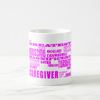 Caregivers : Pink Greatest Caregiver Basic White Mug