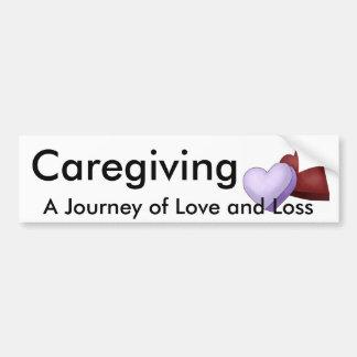 Caregiving, A Journey of Love and Loss Bumper Sticker