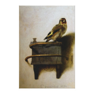 Carel Fabritius The Goldfinch Stretched Canvas Print