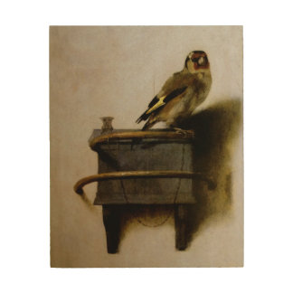 Carel Fabritius The Goldfinch Fine Art Wood Canvas
