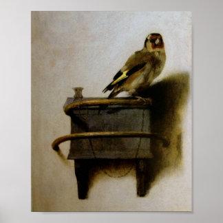 Carel Fabritius The Goldfinch Poster