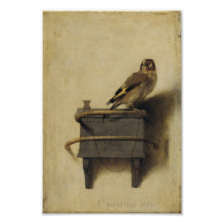 Carel Fabritius The Goldfinch Poster