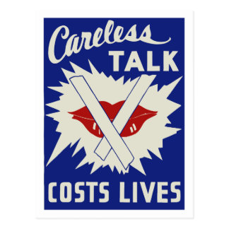 Careless talk costs lives postcard