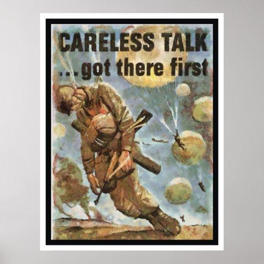 CARELESS TALK POSTER