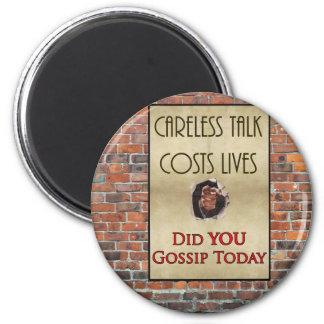 Careless Talk Propaganda Poster Magnet