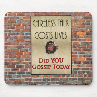 Careless Talk Propaganda Poster Mouse Pads