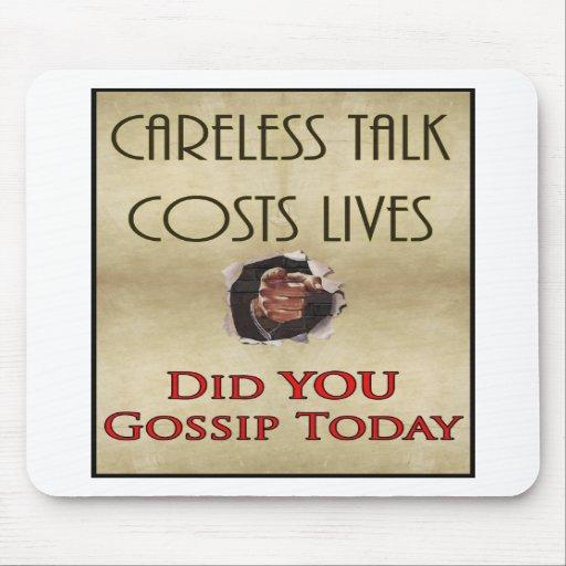 Careless Talk Propaganda Poster Mouse Pad