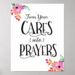 Cares into Prayer Art Print