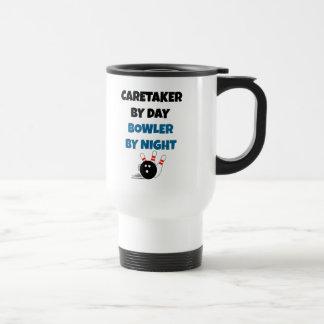 Caretaker by Day Bowler by Night Travel Mug