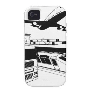 Cargo logistics transport illustration iPhone 4/4S covers