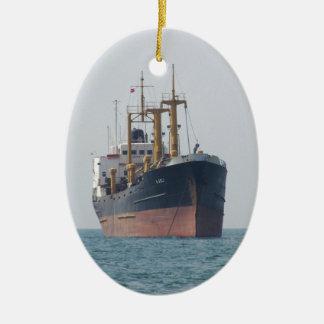 Cargo Ship A Asli Ceramic Oval Decoration