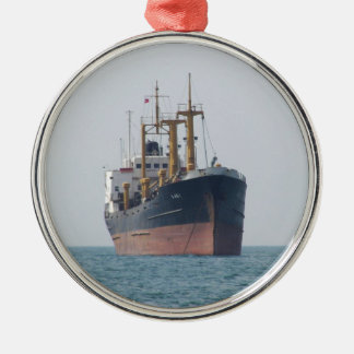 Cargo Ship A Asli Silver-Colored Round Decoration