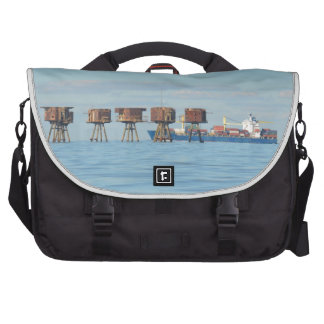 Cargo Ship And Forts Commuter Bag