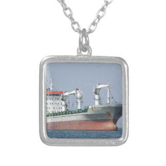 Cargo Ship Bozona Bows Silver Plated Necklace