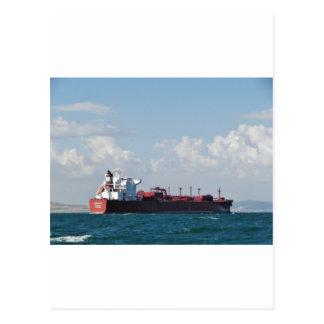 Cargo Ship Clipper Sky Postcard