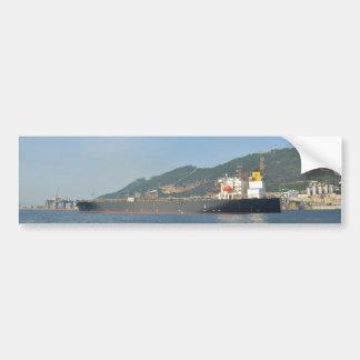 Cargo Ship Entering Gibraltar Bumper Sticker