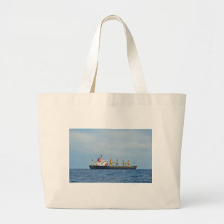 Cargo Ship Infinity Large Tote Bag