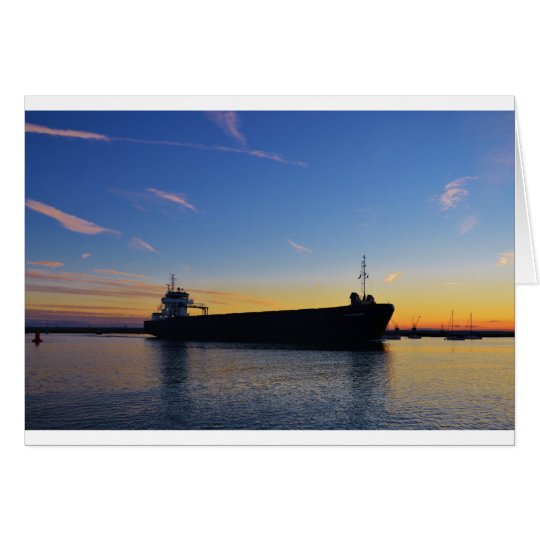 Cargo ship leaving the Swale Card