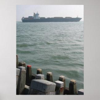 Cargo Ship Sea Transportation Photo Poster Print