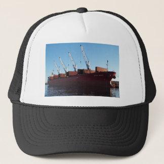 Cargo Ship Stove Trader taking on cargo. Trucker Hat