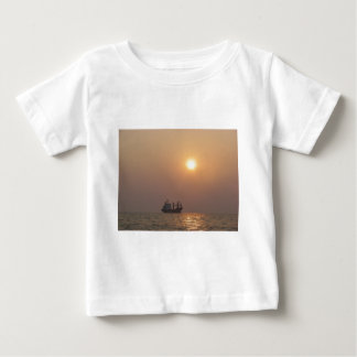 Cargo Ship Under A Hazy Sun Baby T-Shirt